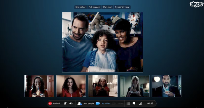 Skype group video chat