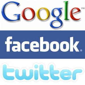 google facebook and twitter