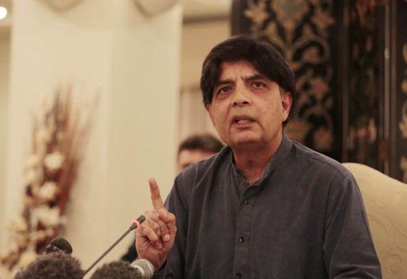 Pakistani Interior Minister hold press conference