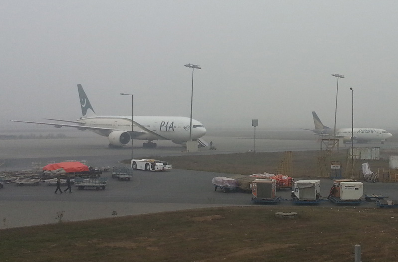 PIA Flights landed due to Fog