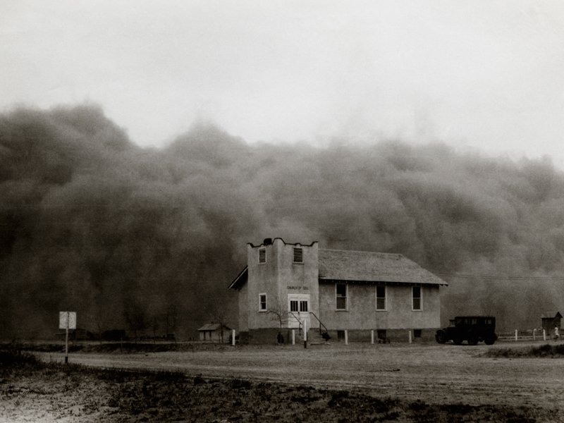 Dust storms in the 1930s Dust Bow
