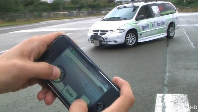 Hackers control car using a mobile phone