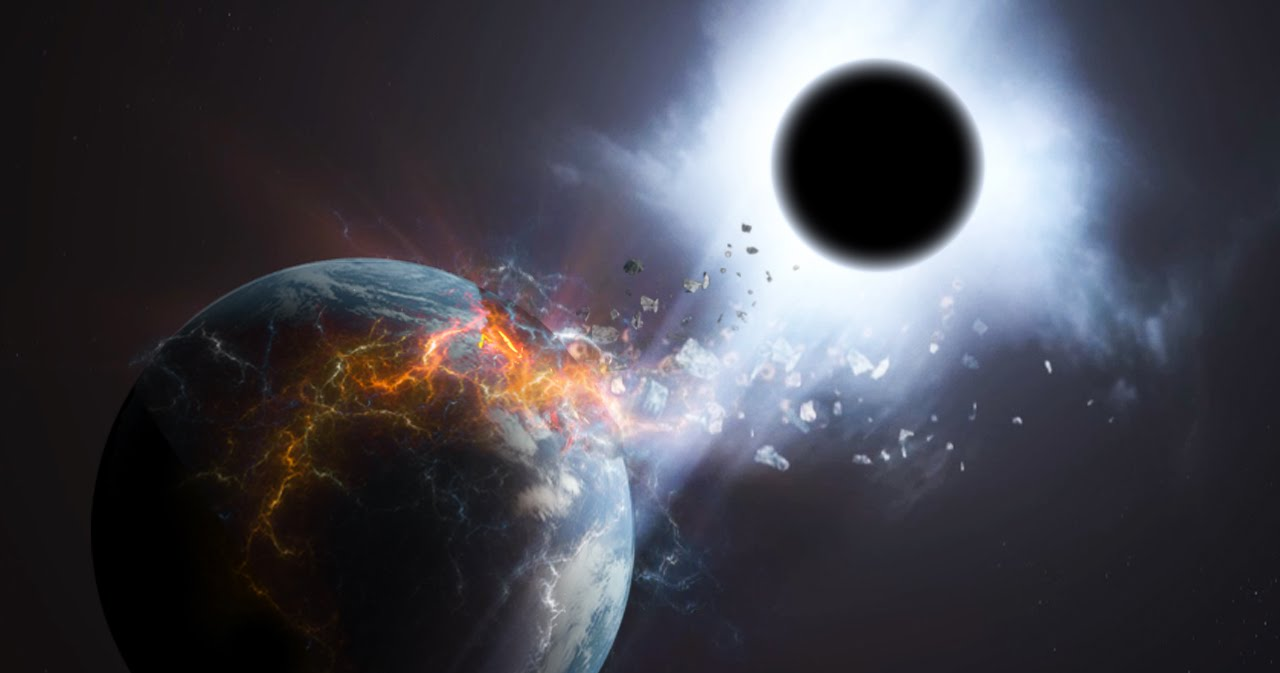 How a black hole would destroy the Earth