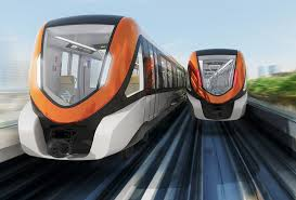 Orange Line Metro Train as a gift from China for the people of Pakistan