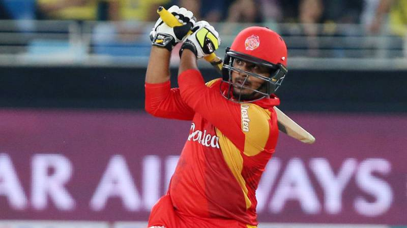 Sharjeel Khan gets first century of PSL