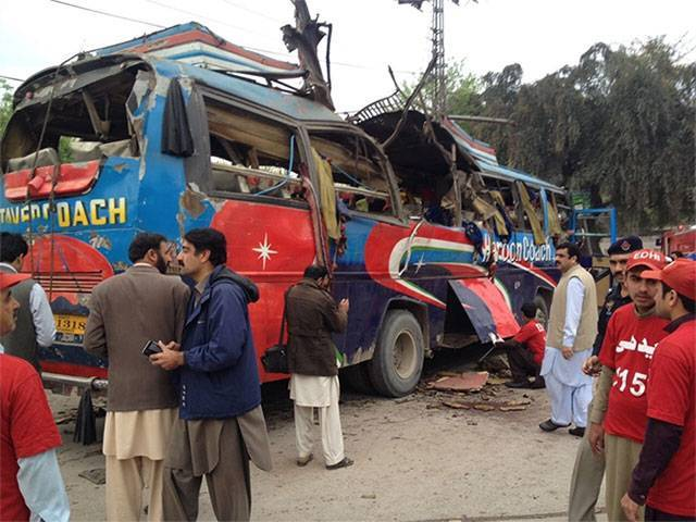Image for the news result Pakistan: Bus bomb explosion kills 15 in Peshawar