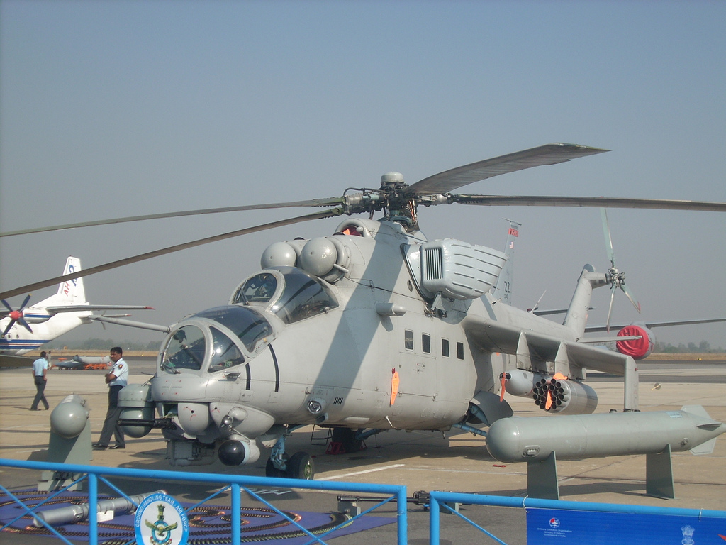 MI 35 helicopter