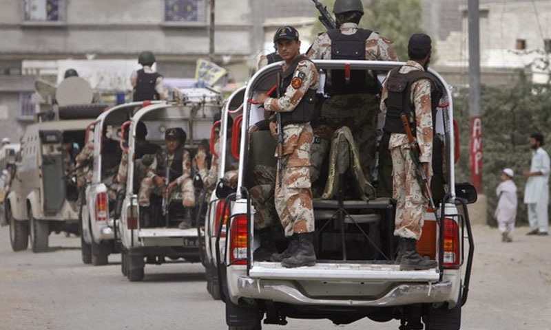 Rangers check posts attacked in Karachi