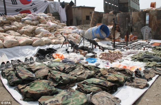 The police recovered huge quantity of explosives