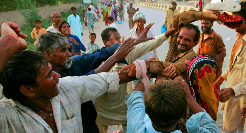 PTI workers fight
